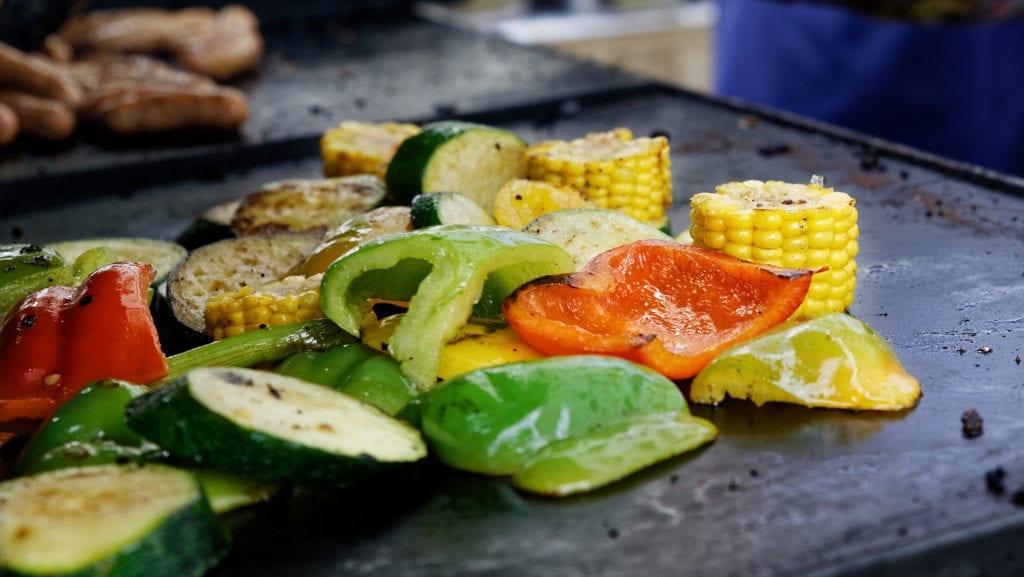 Chapa com legumes